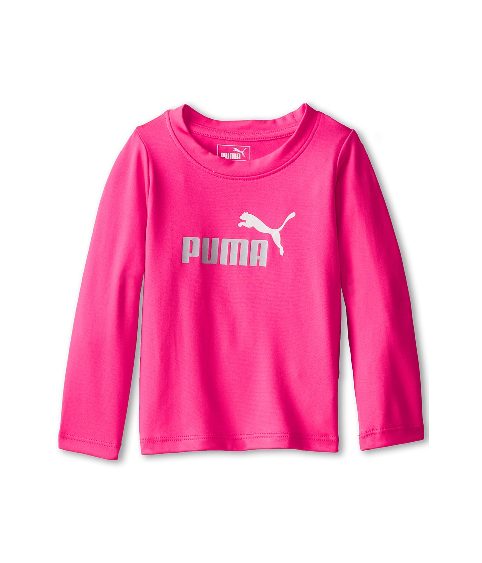 Puma Kids - PUMA(r) Long Sleeve Tee (Infant) (Pink Glo) Girl's T Shirt