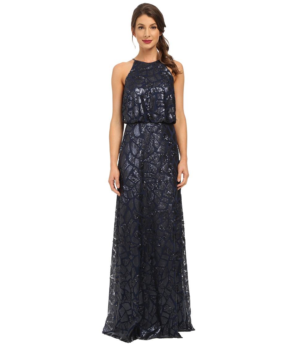 Donna Morgan - Halter Sequin (Midnight) Women's Dress