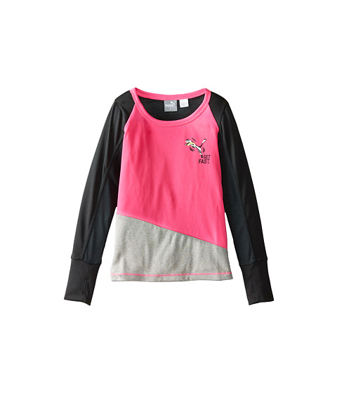 Puma Kids - Lightning Long Sleeve Tee (Little Kids) (Pink Glo) Girl