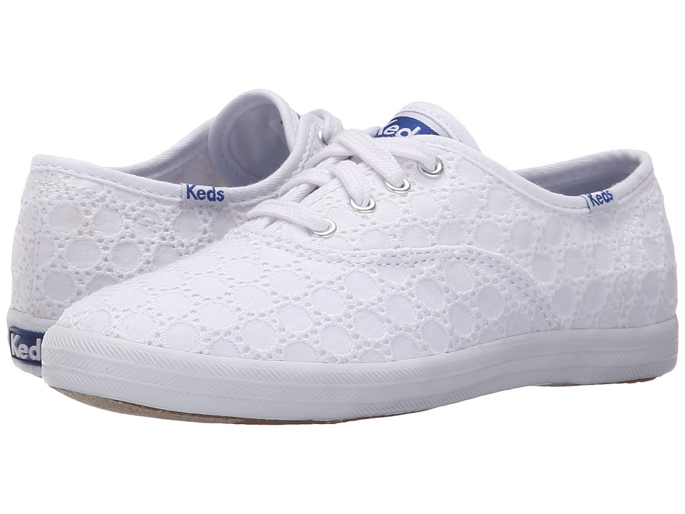 Keds Kids - Champion CVO Seasonal (Little Kid/Big Kid) (White Eyelet) Girls Shoes
