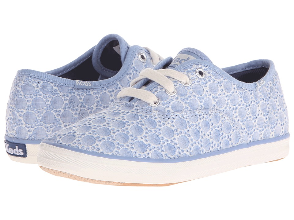 Keds Kids - Champion CVO Seasonal (Little Kid/Big Kid) (Chambray Eyelet) Girls Shoes