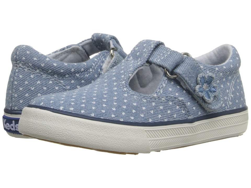 Keds Kids - Daphne (Infant/Toddler) (Chambray Heart Dot) Girls Shoes