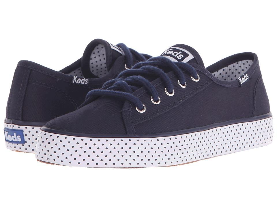 Keds Kids - Double Up (Little Kid/Big Kid) (Navy Dot) Girl's Shoes