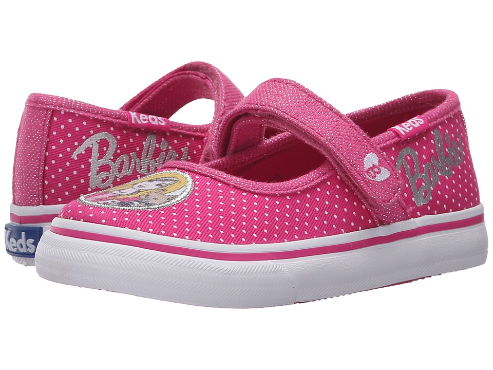 Keds Kids - Barbie Double Up MJ (Toddler/Little Kid) (Pink/White Dot) Girl