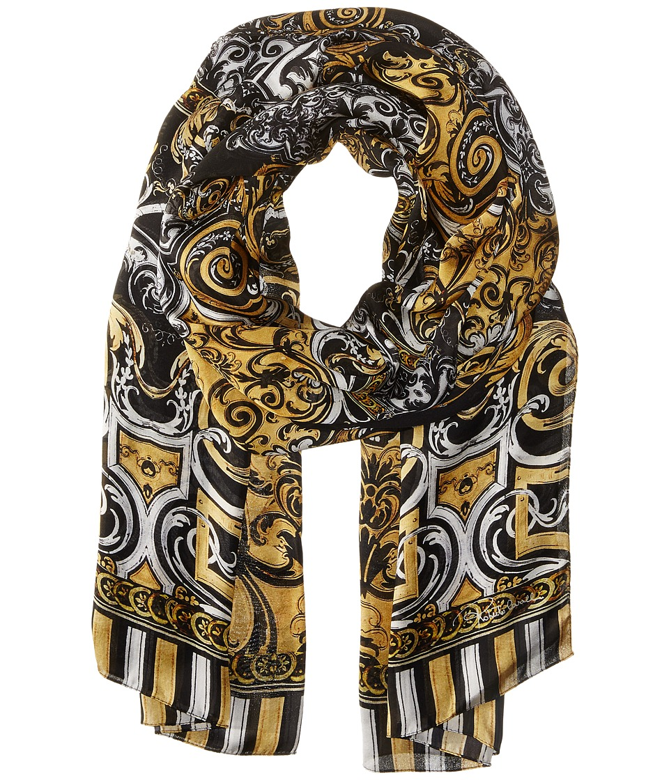 Roberto Cavalli - Christies 70 x 180 Scarf (Black/Gold) Scarves