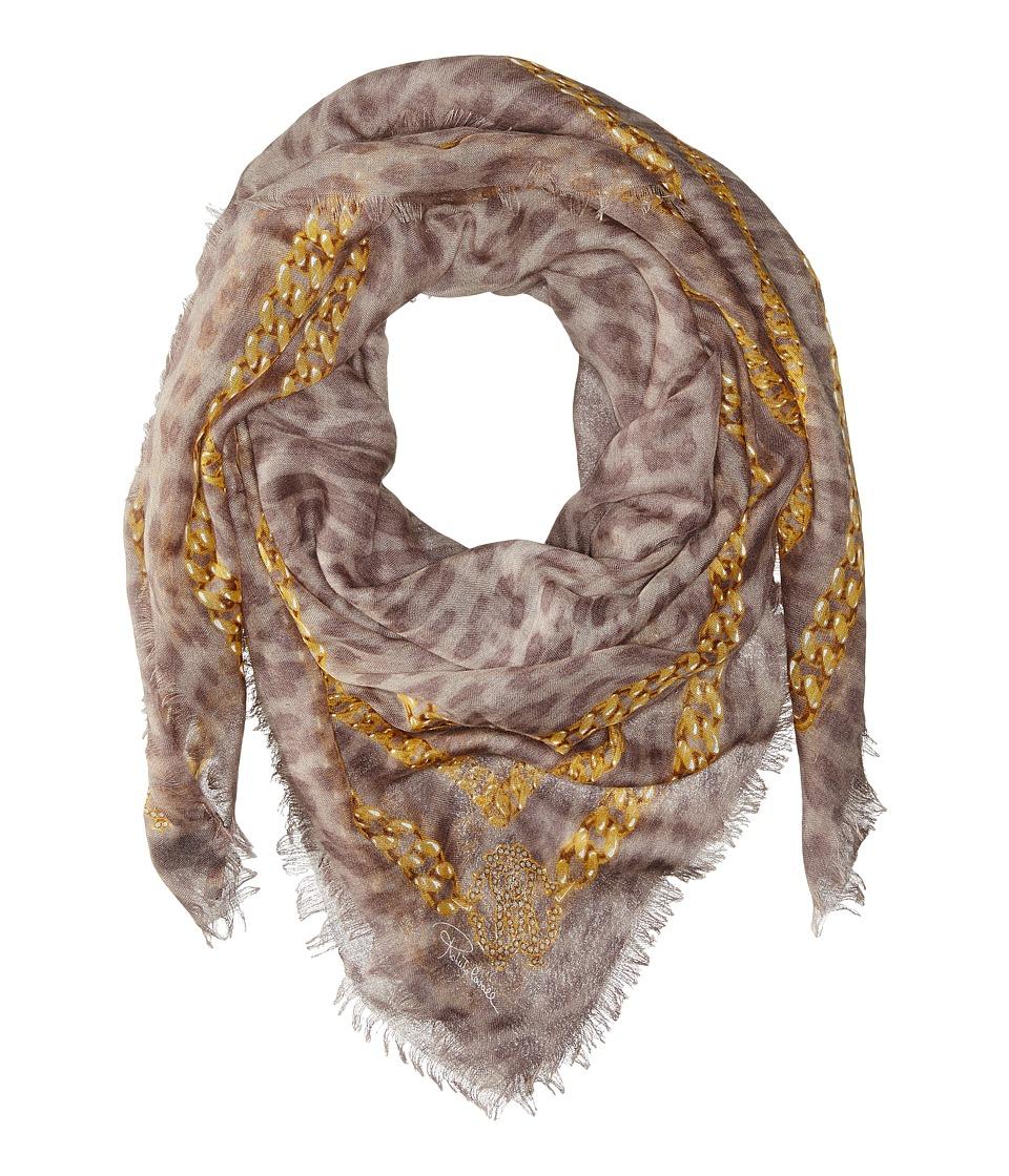Roberto Cavalli - Shawl 140 x 140 Shawl (Silver/Gold) Scarves