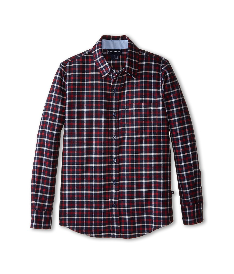 Toobydoo - Timber I Flannel Shirt (Toddler/Little Kids/Big Kids) (Red/Navy Checks) Boy