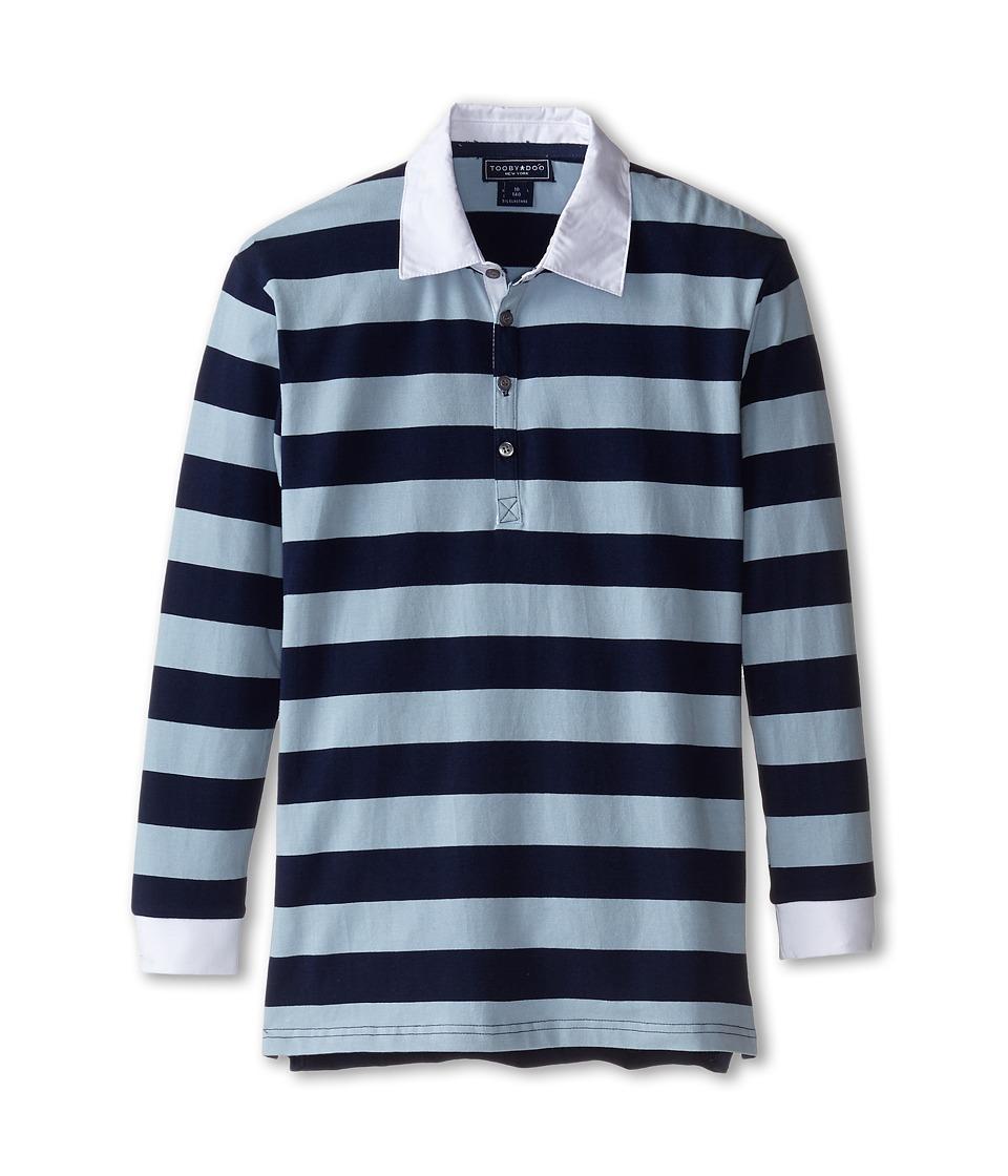 Toobydoo - Rugby Blue Polo (Infant/Toddler/Little Kids/Big Kids) (Light Blue/Navy) Boy