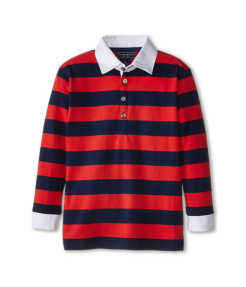 Toobydoo - Rugby Red Polo (Infant/Toddler/Little Kids/Big Kids) (Red/Navy) Boy's Clothing