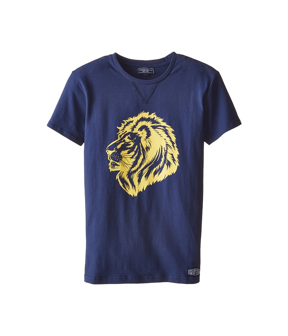 Toobydoo - King of the Jungle 2 Tee (Infant/Toddler/Little Kids/Big Kids) (Navy) Boy