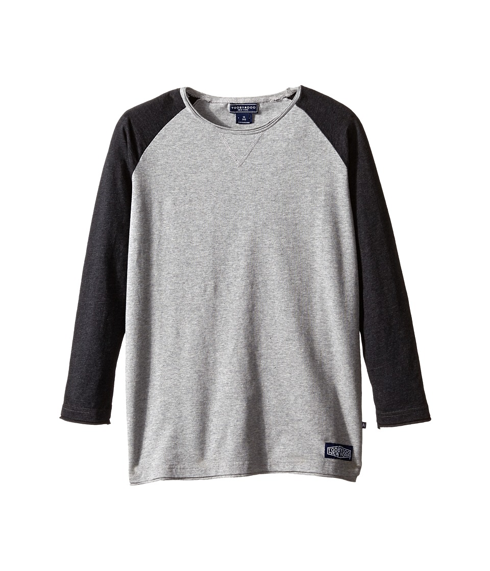 Toobydoo - Home Run Baseball Tee (Infant/Toddler/Little Kids/Big Kids) (Navy/Grey) Boy's T Shirt