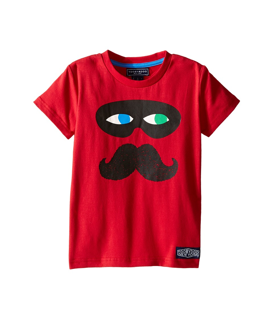 Toobydoo - Captain Mustachio Tee (Toddler/Little Kids/Big Kids) (Red) Boy's T Shirt