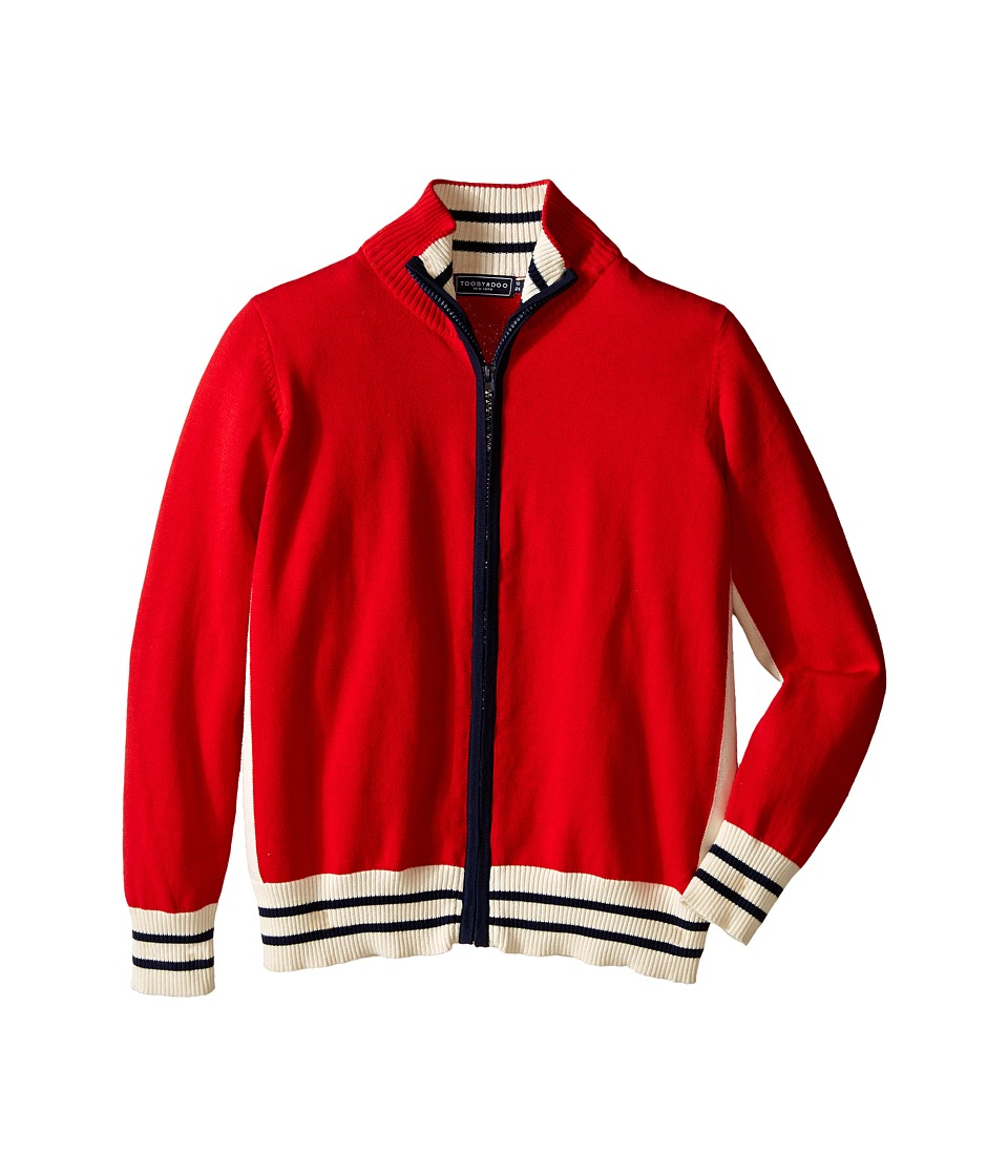 Toobydoo - The Bjorn Zip Sweater (Infant/Toddler/Little Kids/Big Kids) (Red/Navy/White) Boy