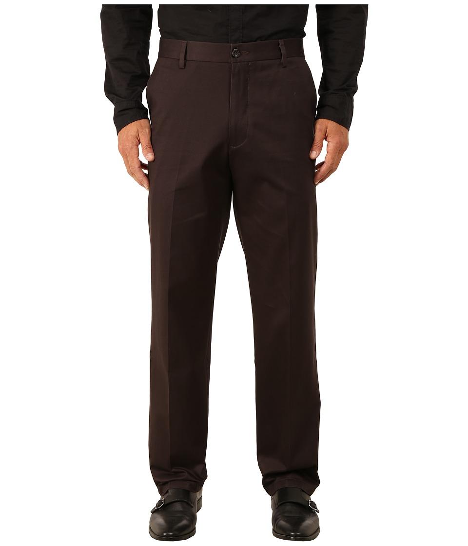 Dockers - Signature Khaki Straight Flat Front (After Dark) Men's Casual Pants
