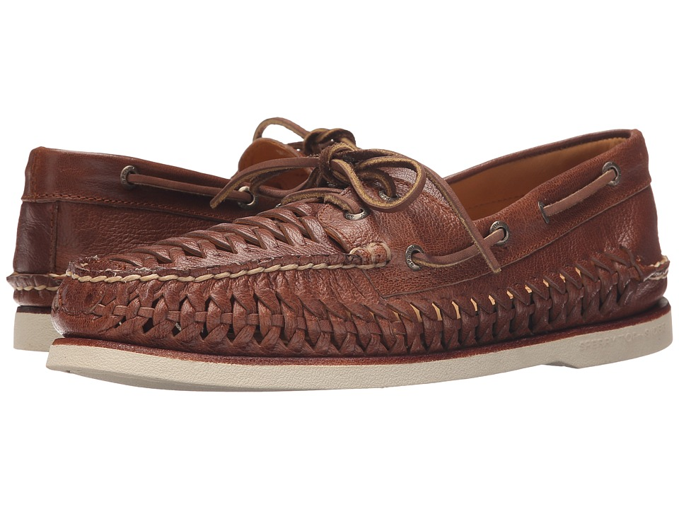 Sperry Top-Sider - Gold A/O 2 Eye Woven (Brown) Men's Lace up casual Shoes