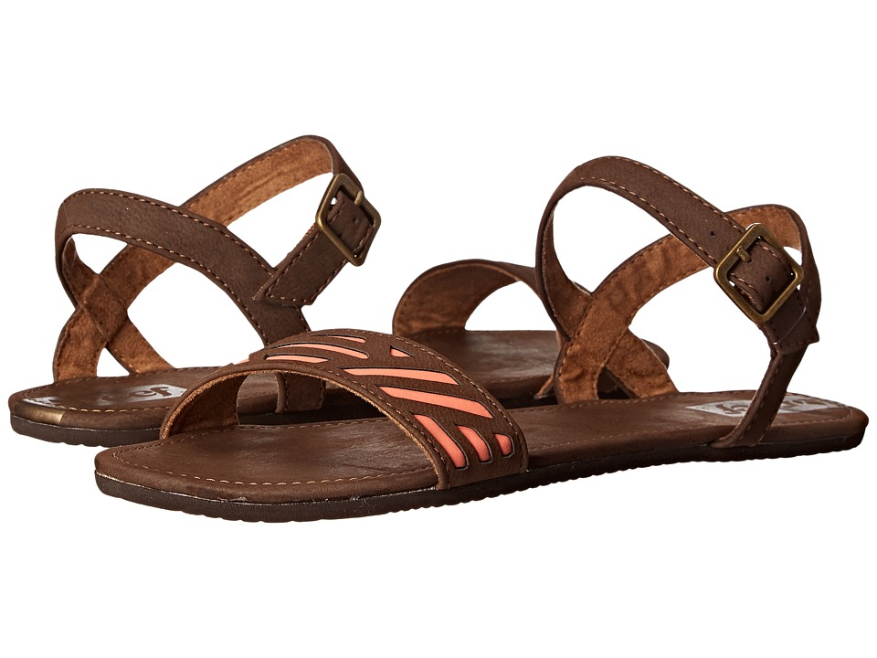 Reef - Day Catch (Brown/Coral) Women's Sandals