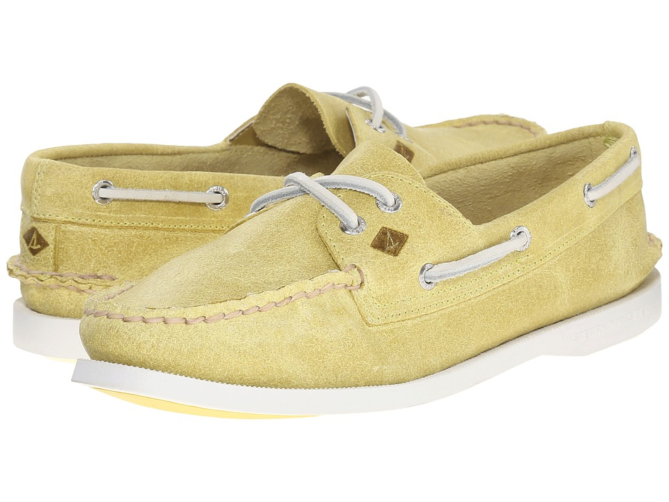 Sperry - A/O 2 Eye White Cap (Light Yellow) Women's Lace up casual Shoes