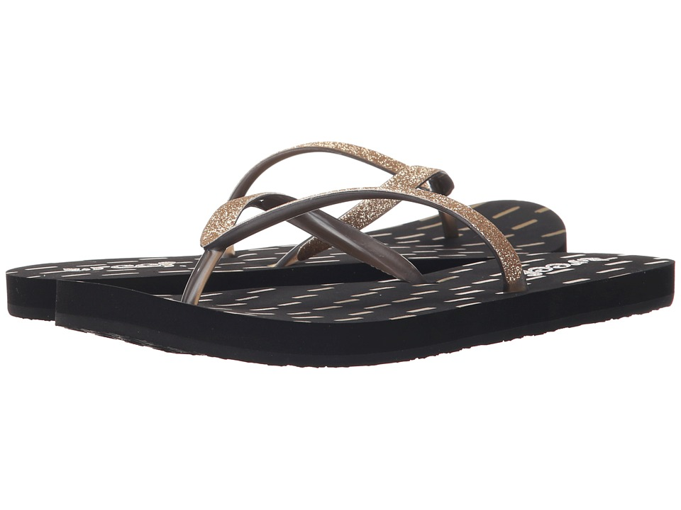 Reef - Stargazer Prints (Black/Gold) Women's Sandals