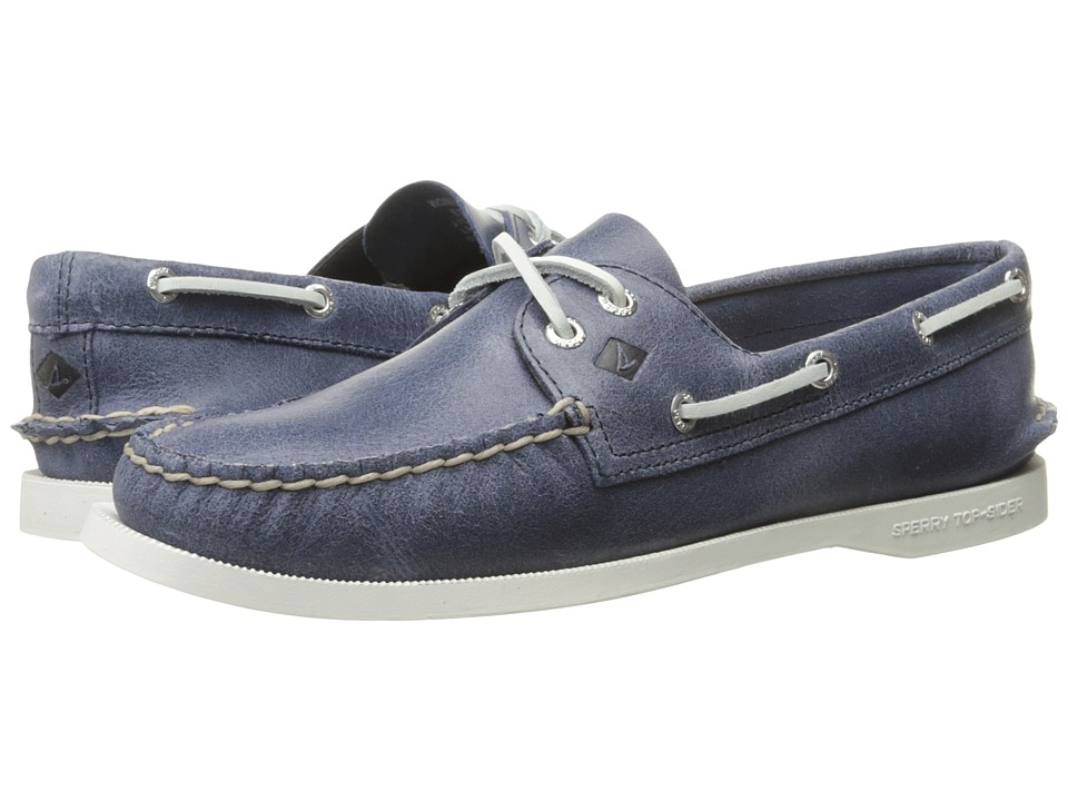 Sperry Top-Sider - A/O 2 Eye White Cap (Navy) Women's Lace up casual Shoes