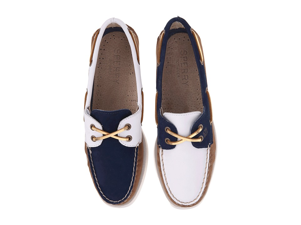 Sperry Top-Sider - A/O 2-Eye Miss Match (White/Navy) Women's Lace up casual Shoes