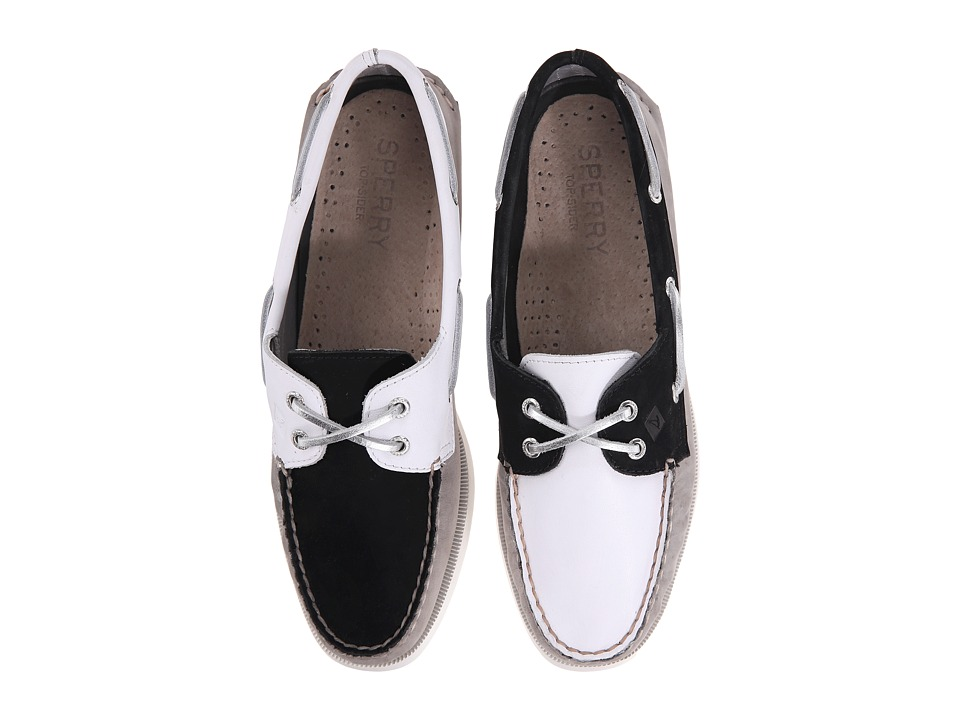 Sperry A/O 2-Eye Miss Match (Black/White) Women
