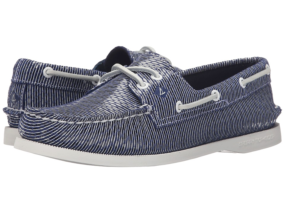 Sperry Top-Sider - A/O 2 Eye Stripe Snake (Navy) Women's Lace up casual Shoes