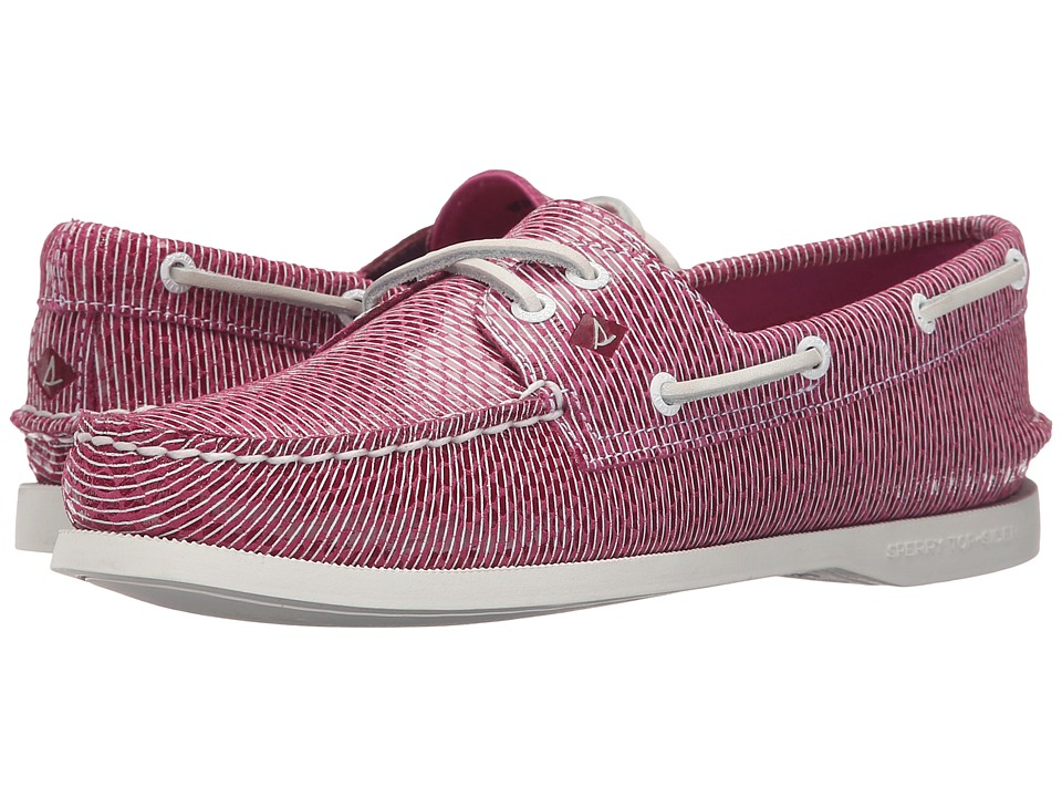 Sperry A/O 2 Eye Stripe Snake (Bright Pink) Women