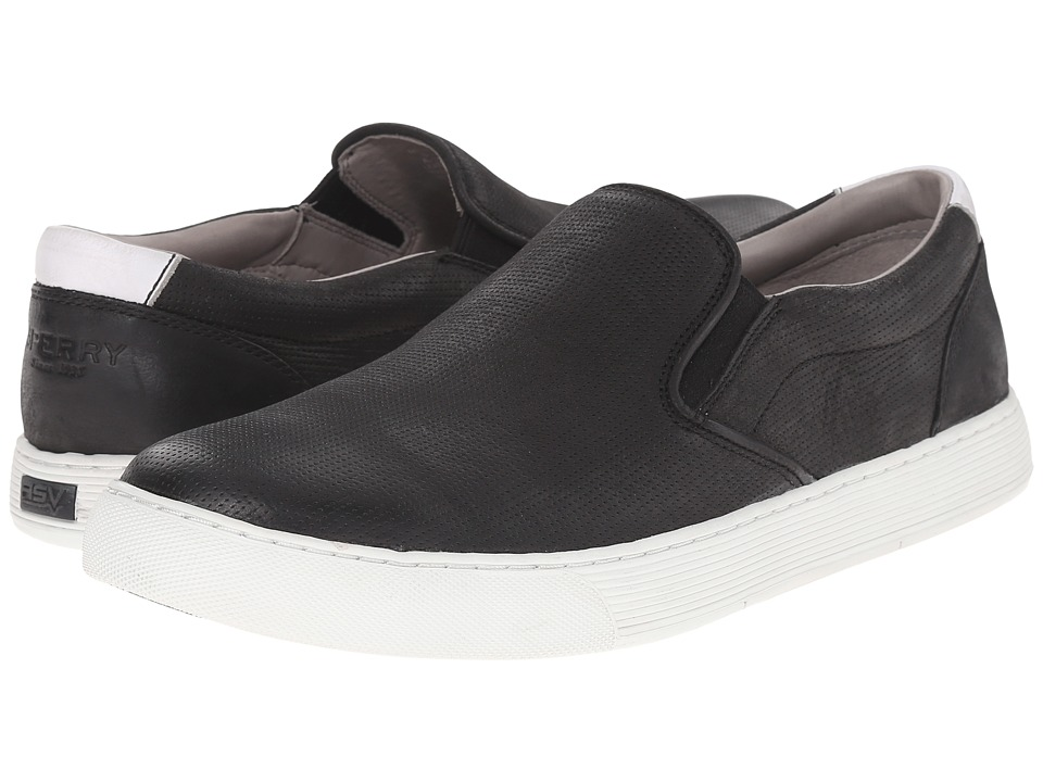 Sperry Top-Sider - Gold Sport Casual Slip-On (Black) Men's Slip on Shoes