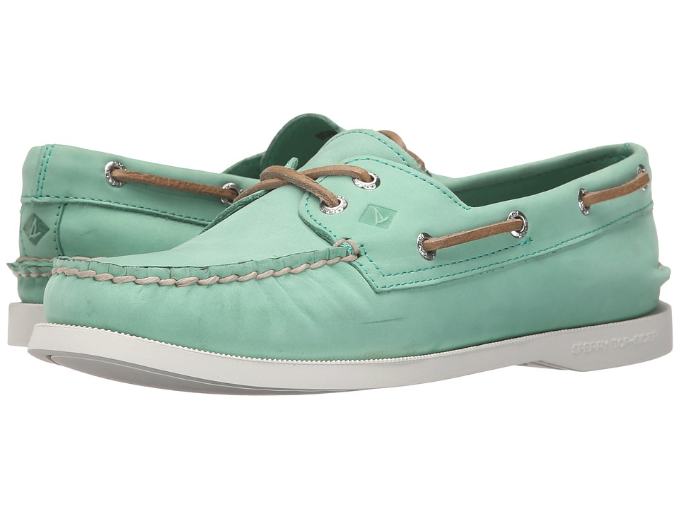 Sperry A/O 2 Eye Wax Leather (Mint) Women