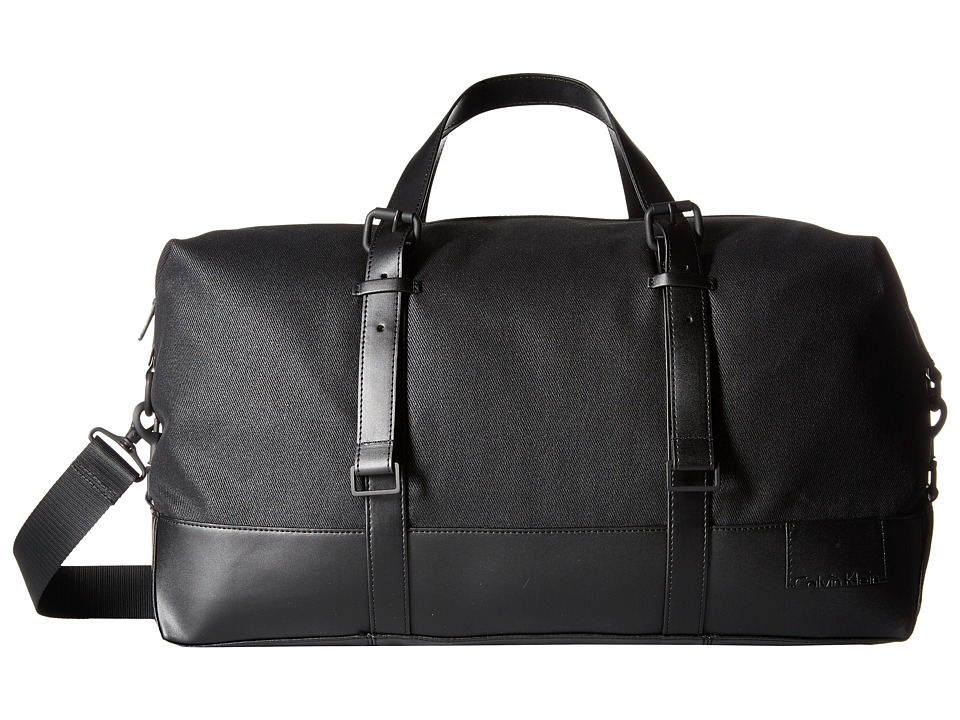 Calvin Klein - Coated Canvas Duffel Bag (Black) Duffel Bags