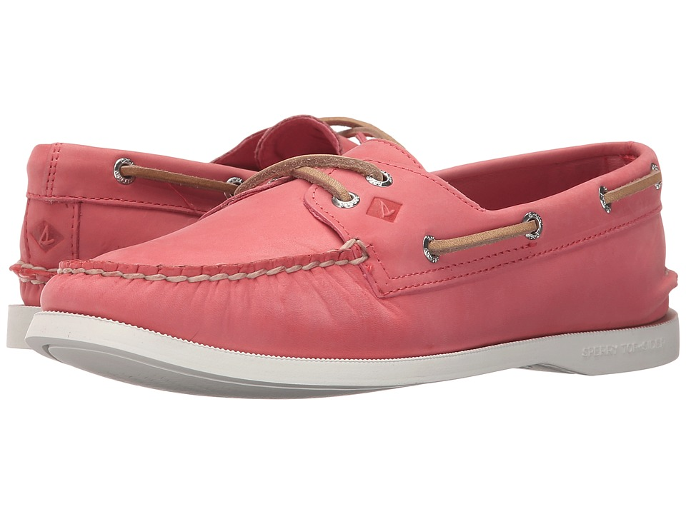 Sperry Top-Sider - A/O 2 Eye Wax Leather (Pink) Women