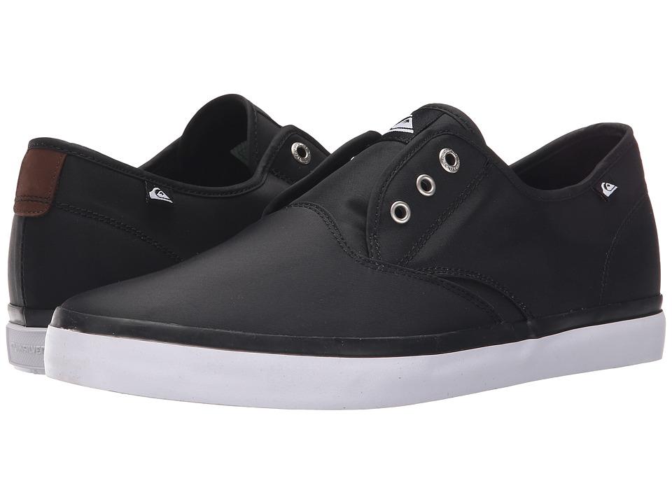 Quiksilver - Shorebreak Nylon (Black/Black/White) Men's Lace up casual Shoes