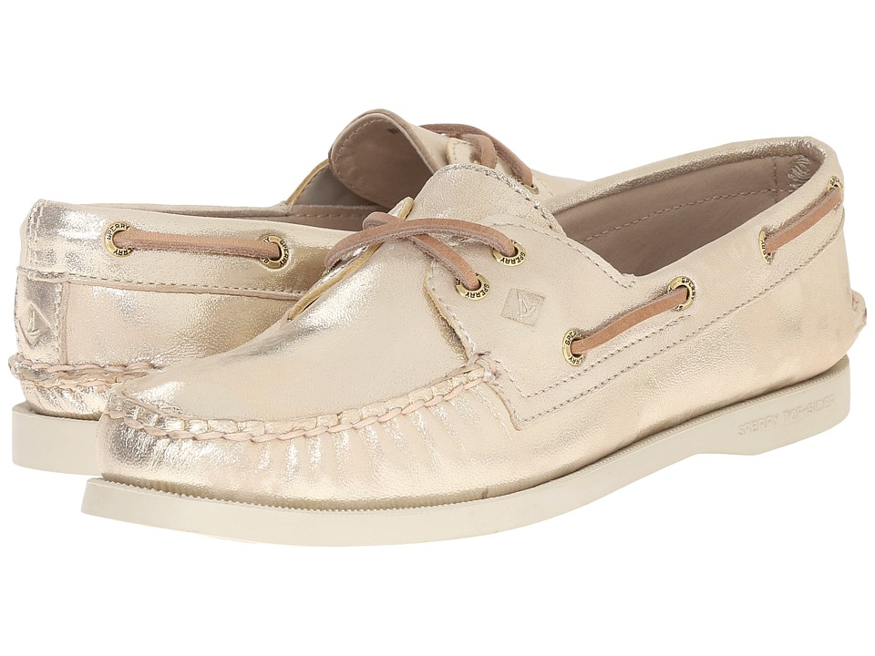 Sperry Top-Sider - A/O 2-Eye Metallic (Platinum) Women's Lace up casual Shoes