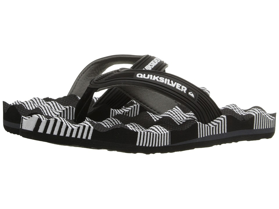 Quiksilver Kids - Massage (Toddler/Little Kid/Big Kid) (Black/White/Black) Boys Shoes