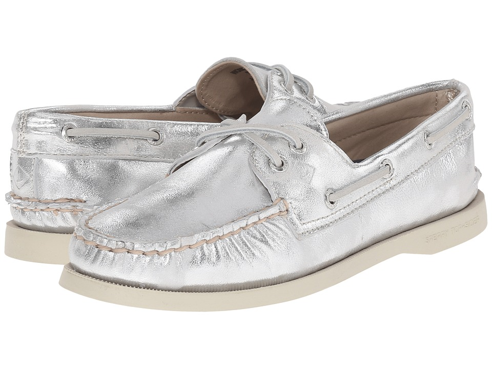 Sperry Top-Sider - A/O 2-Eye Metallic (Silver) Women's Lace up casual Shoes