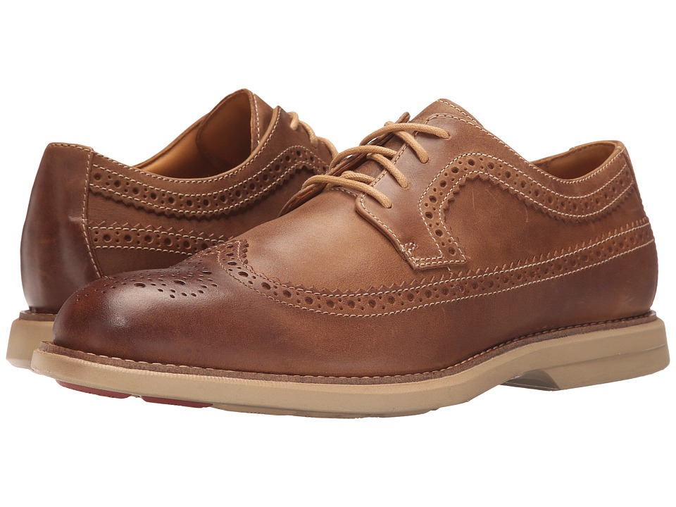 Sperry Top-Sider - Gold Bellingham Long Wingtip w/ ASV (Brown) Men's Lace Up Wing Tip Shoes