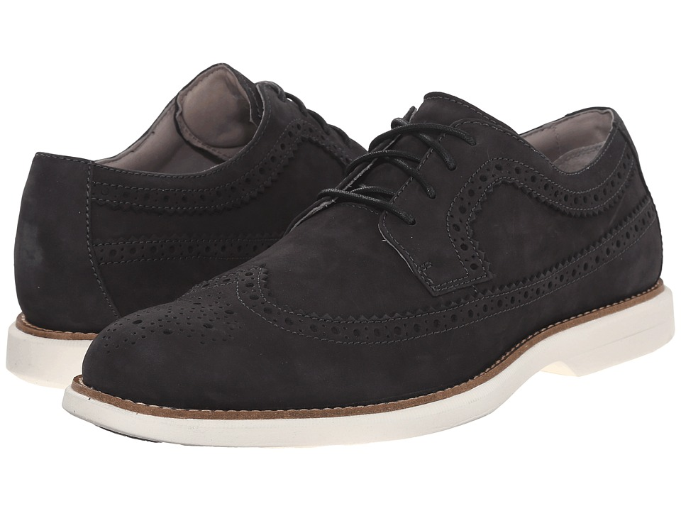 Sperry - Gold Bellingham Long Wingtip Nubuck w/ ASV (Black/White) Men's Lace Up Wing Tip Shoes