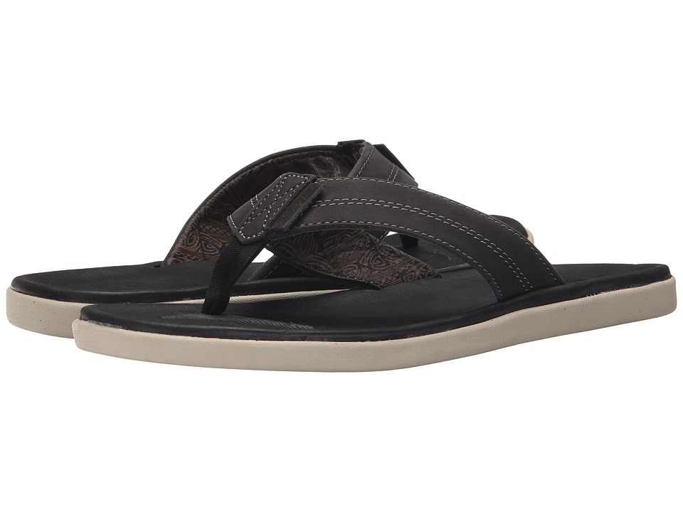 Quiksilver - Sanremo (Black/Grey/Black) Men's Sandals