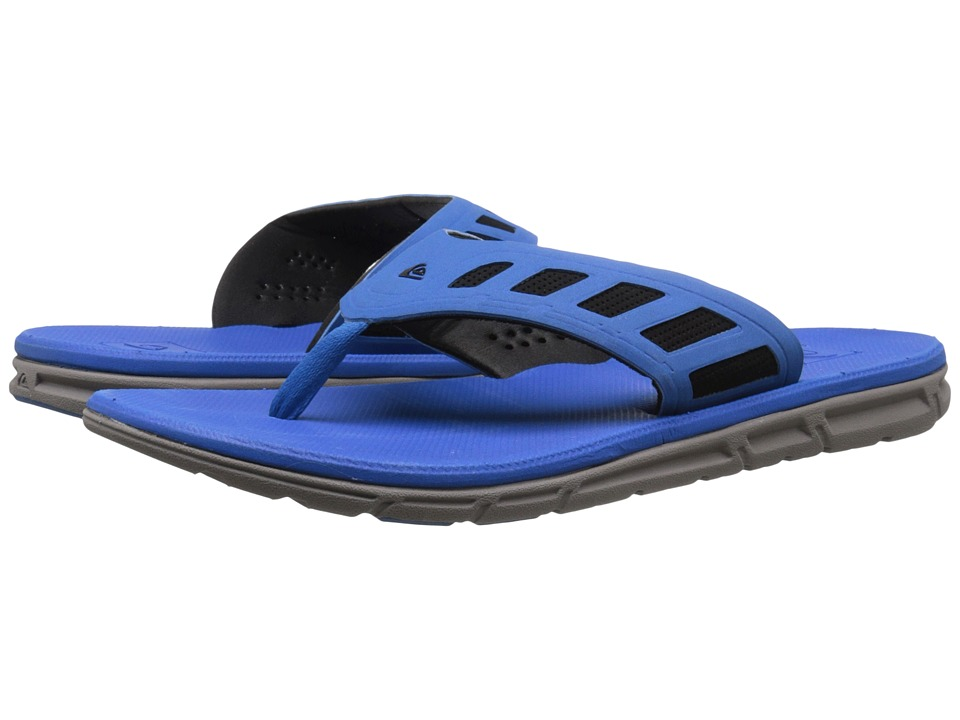 Quiksilver - AG-47 Flux (Black/White/Grey) Men's Sandals
