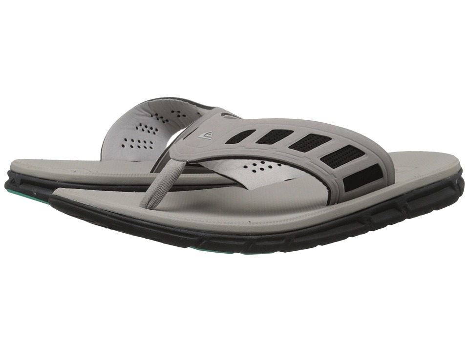 Quiksilver - AG-47 Flux (Grey/Grey/Green) Men's Sandals
