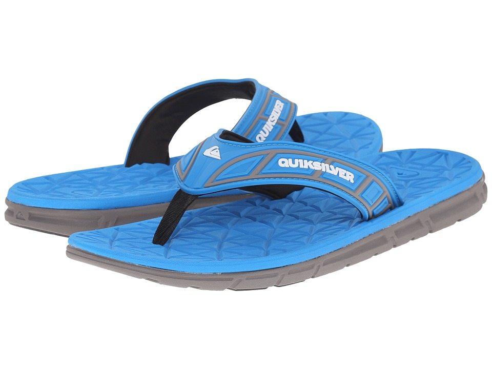 Quiksilver - Fluid (Black/Blue/Grey) Men's Sandals