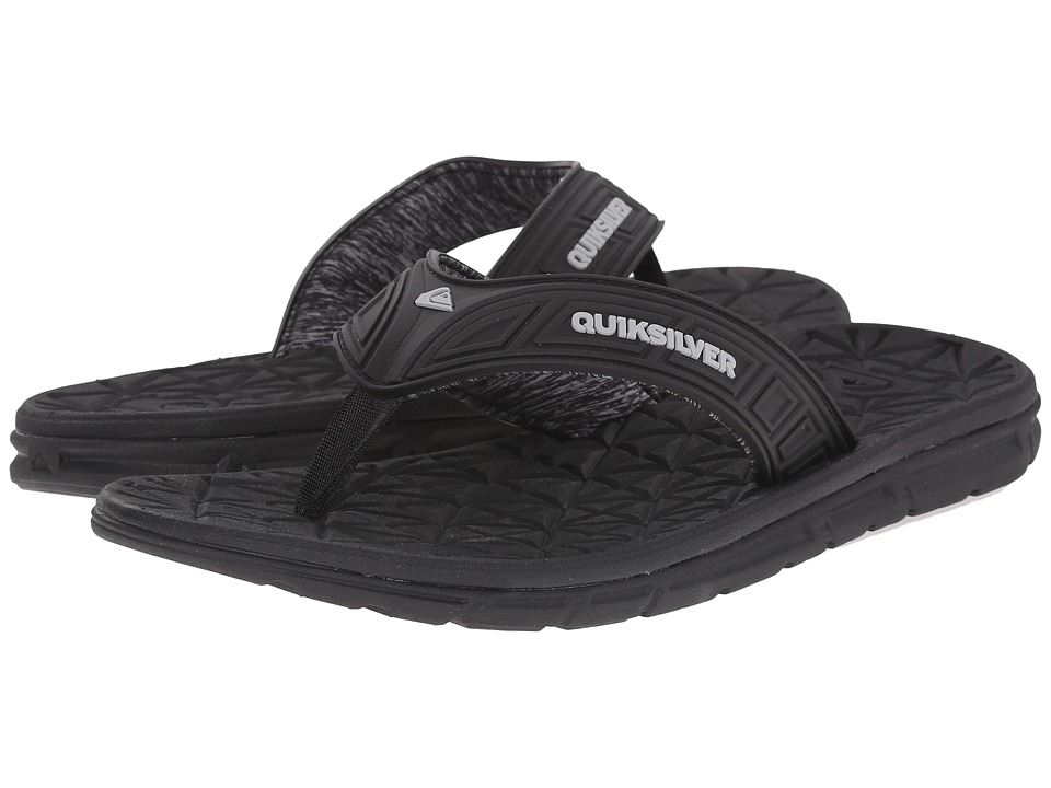Quiksilver - Fluid (Black/Grey/Black) Men's Sandals