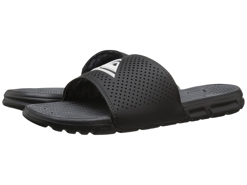 Quiksilver - Horizon (Black/Black/White) Men's Slide Shoes