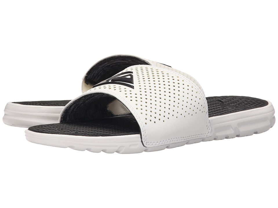 Quiksilver - Horizon (White/Black/White) Men's Slide Shoes