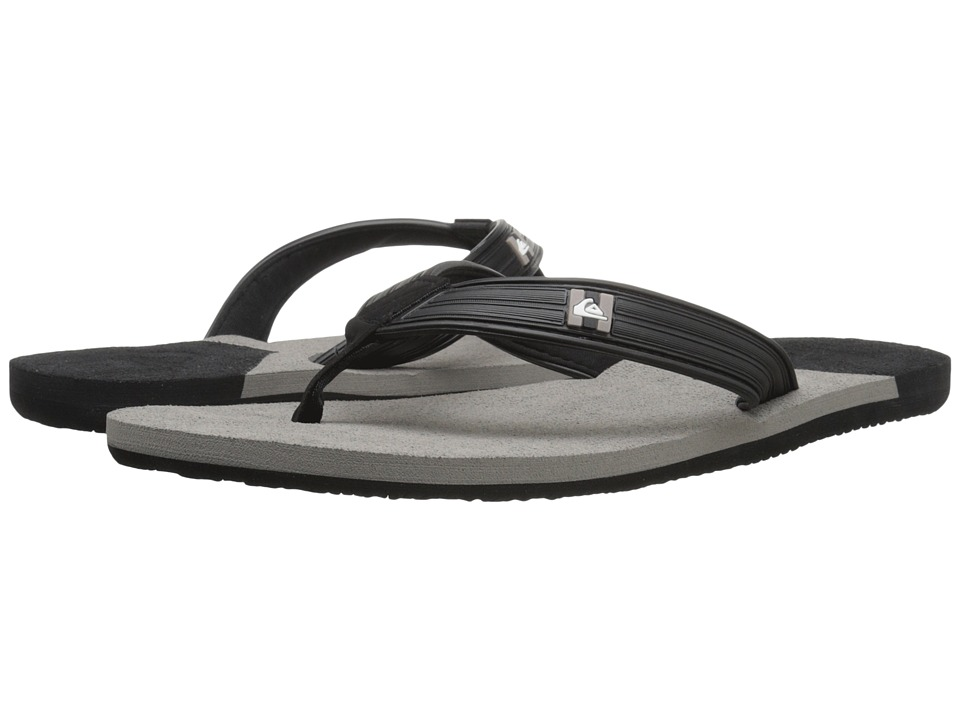 Quiksilver - Molokai New Wave Deluxe (Black/Grey/Black) Men's Sandals