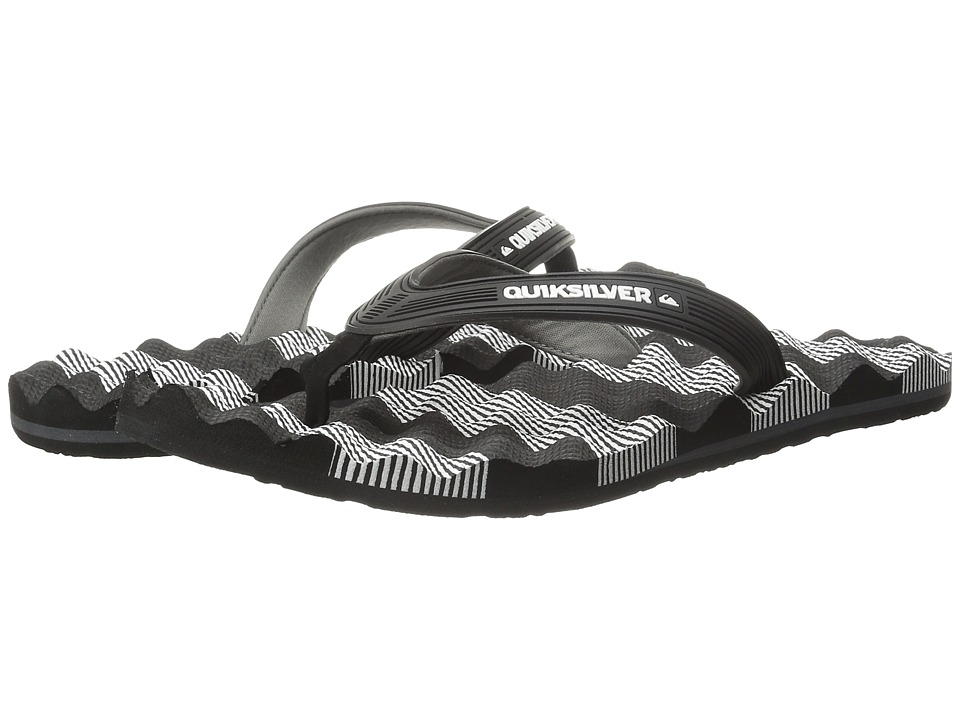 Quiksilver - Massage (Black/White/Black) Men's Sandals