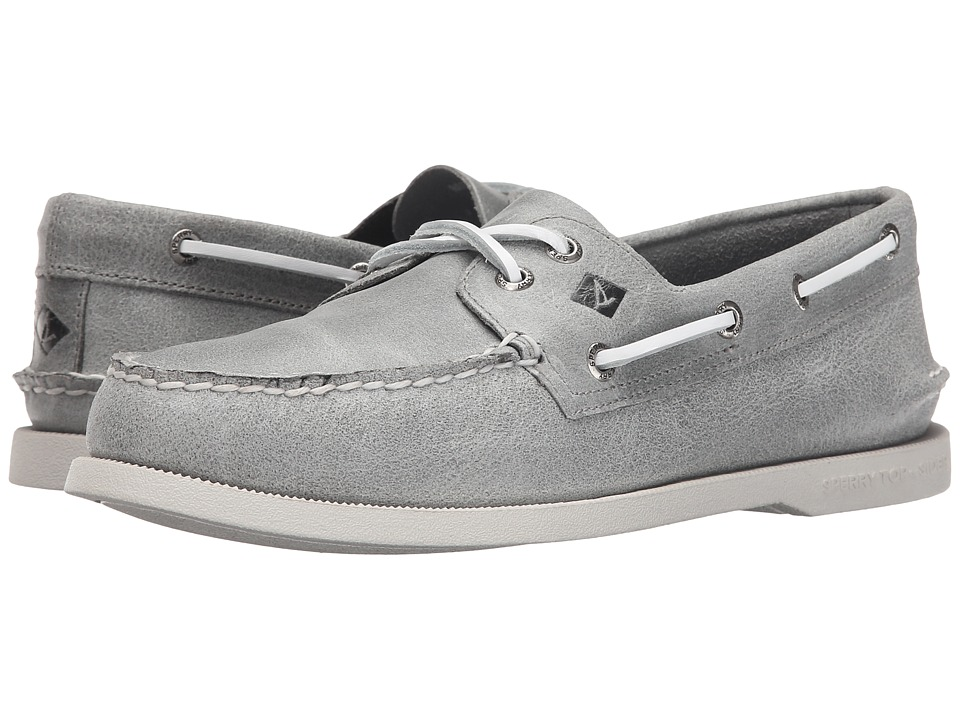 Sperry Top-Sider - A/O 2-Eye White Cap (Grey) Men's Lace up casual Shoes