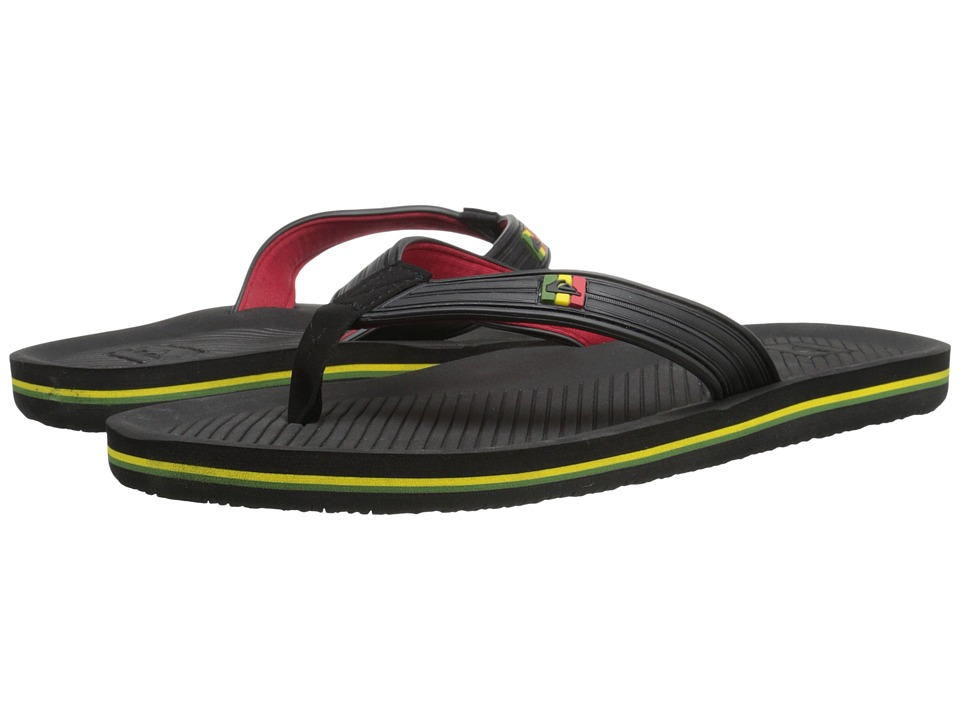Quiksilver - Haleiwa Deluxe (Black/Red/Green 2) Men's Sandals