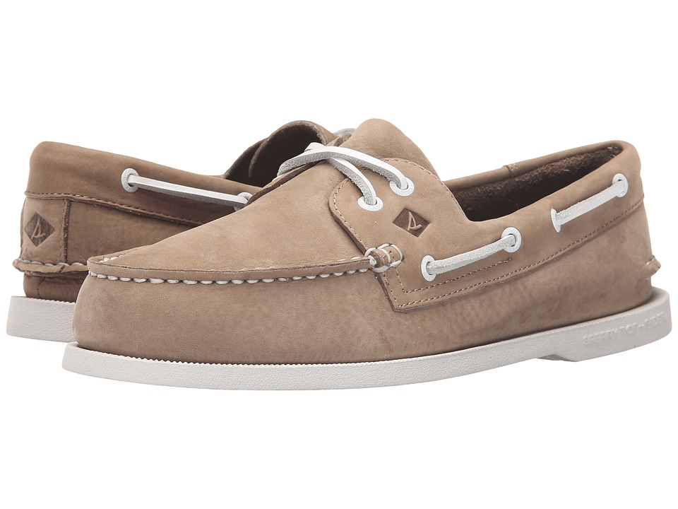 Sperry Top-Sider - A/O 2-Eye Washable (Taupe Nubuck) Men's Lace up casual Shoes