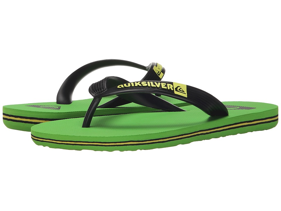Quiksilver Kids - Molokai (Toddler/Little Kid/Big Kid) (Black/Green/Black) Boys Shoes
